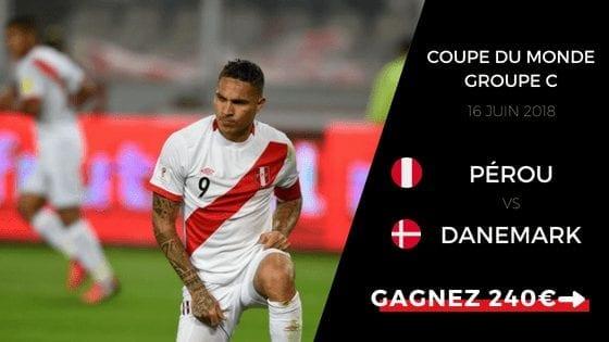 Pronostic groupe c Pérou contre Danemark coupe du monde 2018