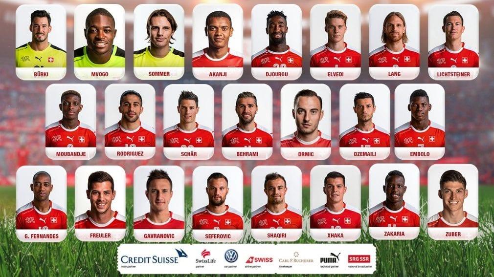 23 joueurs de la suisse pour la coupe du monde 2018