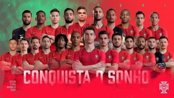 Liste 23 joueurs Portugal Coupe du Monde 2018