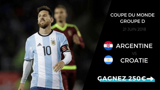 pronostic argentine-croatie coupe du monde groupe d
