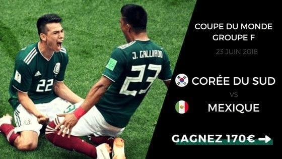 pronostic coree du sud vs mexique cdm 2018