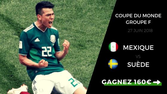 Pronostic Coupe du Monde 2018 : Mexique - Suède
