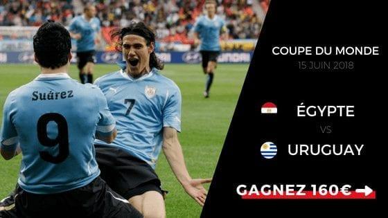 Pronostic Egypte - Uruguay - Coupe du Monde 2018