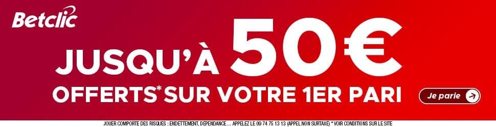 Inscription Betclic - 50€ de Bonus à débloquer !