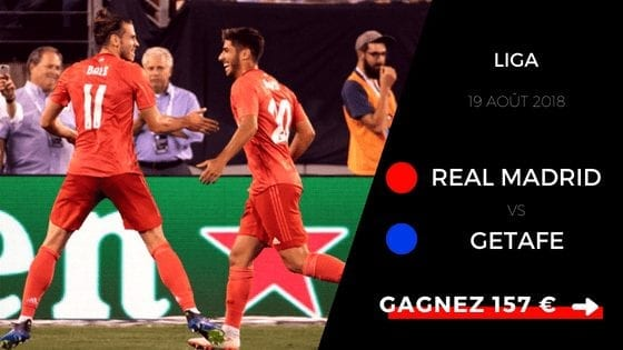 Pronostic Liga Real Madrid - Getafe - 2018 - 2019