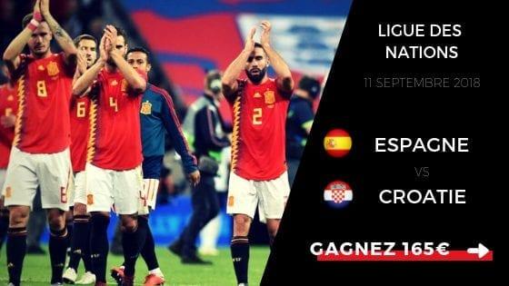 Pronostic Ligue des Nations : Espagne - Croatie 2018 - 2019