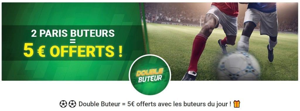 2 paris buteur sur Unibet - 5€ de Paris Gratuits