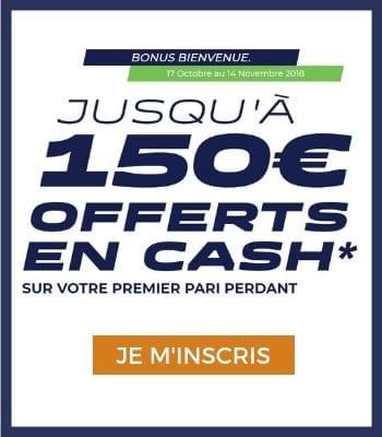 Bonus Parions Sport - 150€ Cash