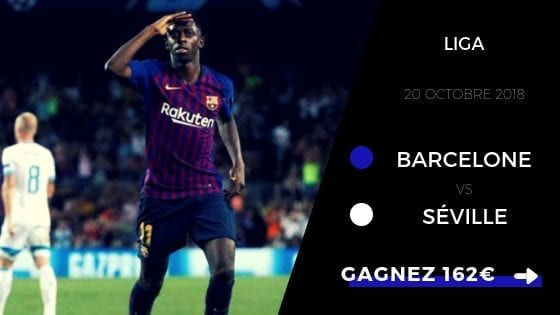 Pronostic Liga : FC Barcelone - FC Séville 2018 - 2019