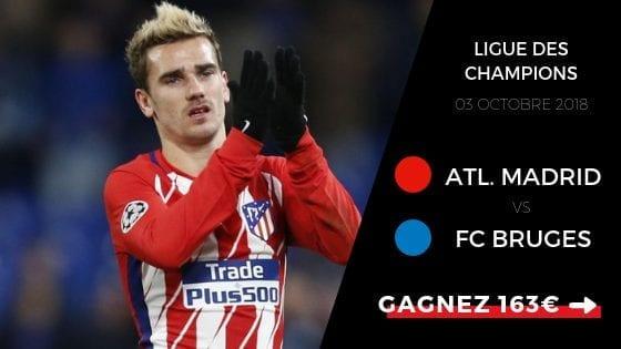 Pronostic Atlético Madrid vs FC Bruges