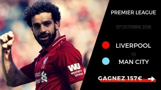 prono premier league Liverpool Man city 18/19