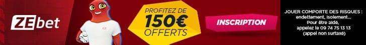 Promo Zebet : 150€ de Bonus