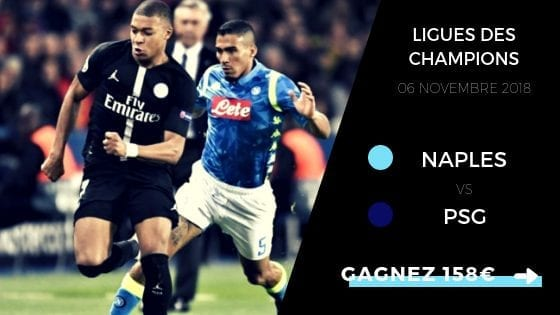 prono LDC naples SSC Paris Saint-Germian 2018/2019