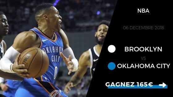Pronostic NBA Brooklyn Nets vs Oklahoma City Thunder 2018 2019